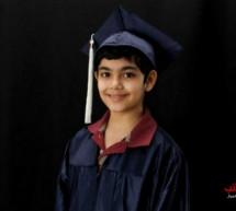 """الطفل المعجزة """"أبراهام""""يحصل على شهادة التخرج من الكلية في عمر الحادية عشر"""