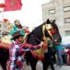 القارئة الأولى بالمغرب التلميذة مريم أمجون تستقبل استقبال الأبطال بمهد الخيول بتيسة بتاونات