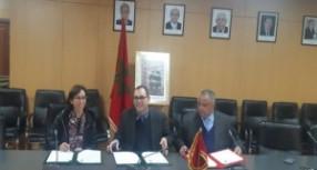 """توقيع اتفاق تعاون ثلاثي الأطراف لإعادة تأهيل داخلية بالثانوية الإعدادية """"المسيرة""""بتيسة بتاونات"""