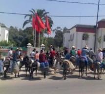 العطش يخرج سكان دوار الكزارة بجماعة لغوازي للاحتجاج صوب دائرة قرية با محمد بإقليم تاونات