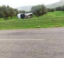 4 قتلى في انقلاب سيارة عائلية بين جماعتي عين مديونة وعين عائشة بإقليم تاونات