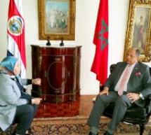 رئيس جمهورية كوستاريكا يستقبل وفدا برلمانيا مغربيا برئاسة النائبة التاوناتية كنزة الغالي