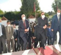 محمد بنعبد القادر وزير العدل يزور مركز القاضي المقيم بقرية ابا محمد بإقليم تاونات