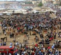 السوق الأسبوعي لقرية با محمد بتاونات يعرقل مشروع المدينة…فهل من متدخل ؟؟