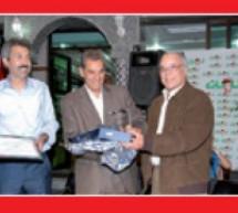 """صورة وتعليق هدية """"صدى تاونات"""" للصحافي عبد السلام عنوز"""