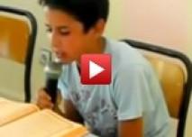 زهير الغزواي موهبة من الثانوية الإعدادية 20 غشت بغفساي في تجويد القرآن